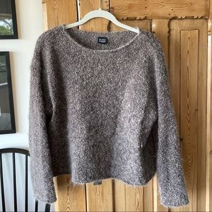 Eileen Fisher mohair knit sweater Italian yarn GUC